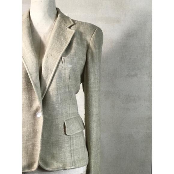47f9070a4d1 Evan Picone Jackets & Coats | Vintage Cream Silk Blazer By Sz M ...
